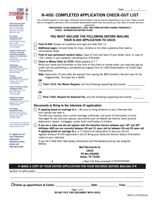 Top 8 Uscis Form N 400 Templates Free To Download In Pdf Format