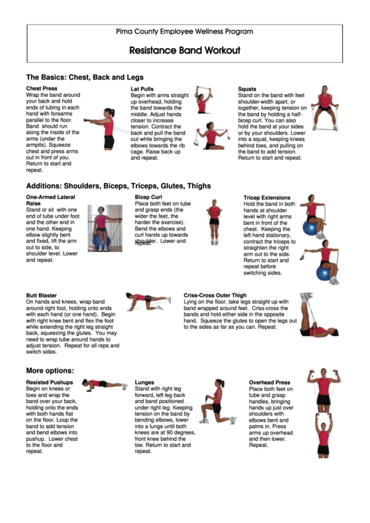 picture about Printable Resistance Band Exercises referred to as Resistance Band Exercise printable pdf obtain