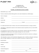 Work Authorization Form - Floor Tek