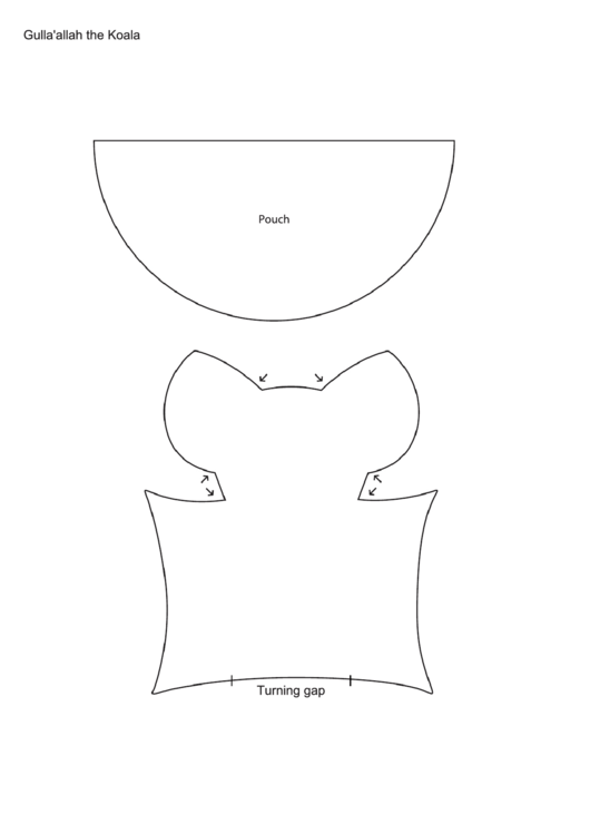 A Simple Koala Template Printable pdf