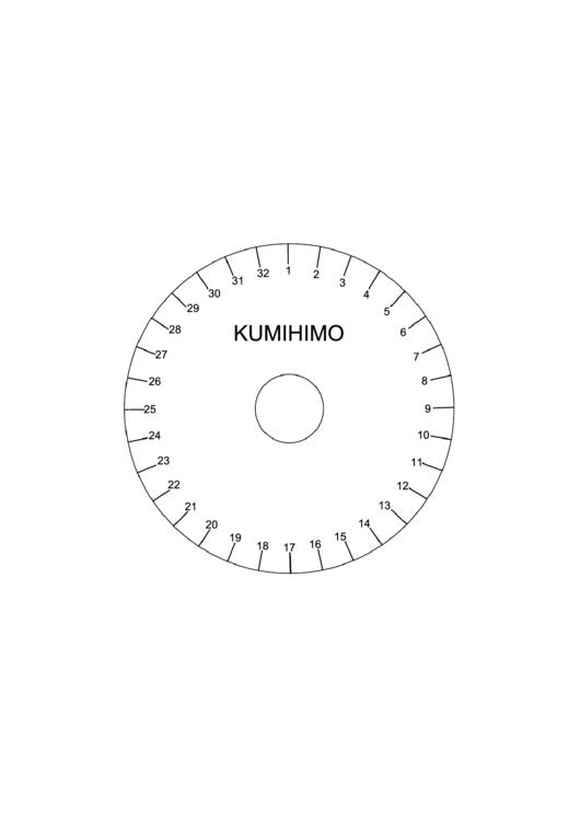 Kumihimo Disk Template printable pdf download