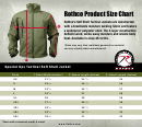 Rothco Special Ops Tactical Soft Shell Jacket Size Chart