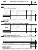 Form 8863 - Education Credits (american Opportunity, Hope, And Lifetime Learning Credits) - 2009