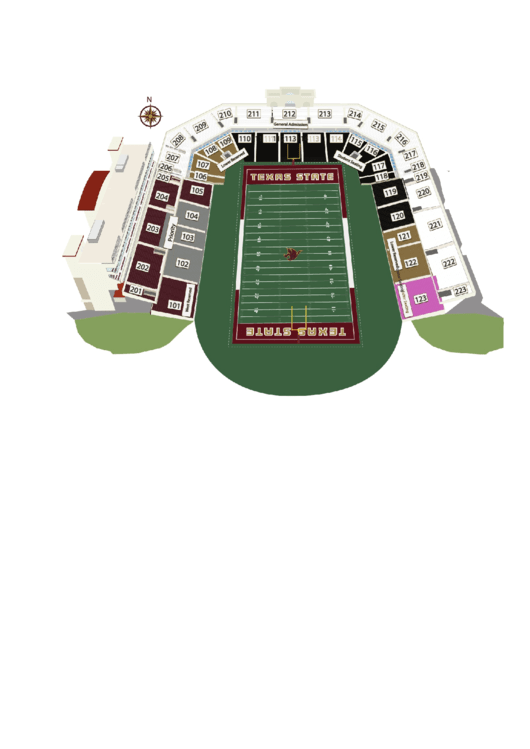 Txstate Bobcat Stadium 3d Seating Chart