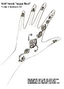 Henna Design Template (vague Fleuri)