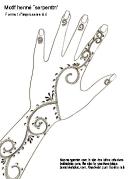 Henna Design Template (serpentin)