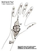 Henna Design (fleur) - A4