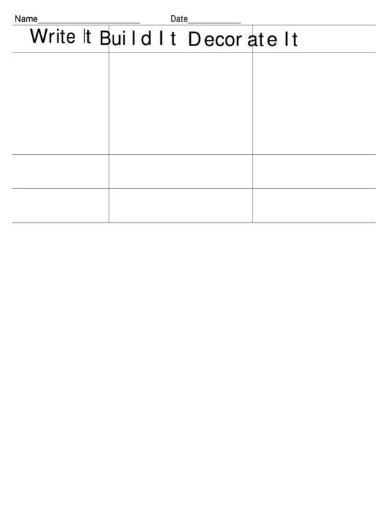 Chart Template Write Build Decorate Printable pdf