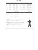 Clothing Size Chart