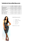 Voovoodress Size Chart And Model Measurements