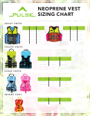 Pulse Neoprene Vest Sizing Chart