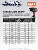 Airmatic Rebar Sizing Chart