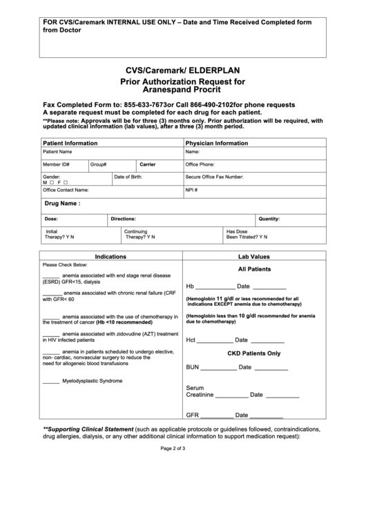 Top 8 Caremark Prior Authorization Form Templates free to download – Caremark Prior Authorization Form