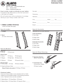 Library Ladder Estimate Form 1. Make Ladder Choices - Alaco Ladder