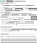 Ds- 2019 Request Form - Unt Heakth Science Center