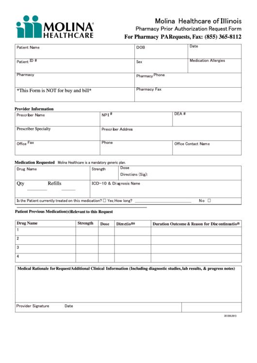molina healthcare of illinois pharmacy prior authorization