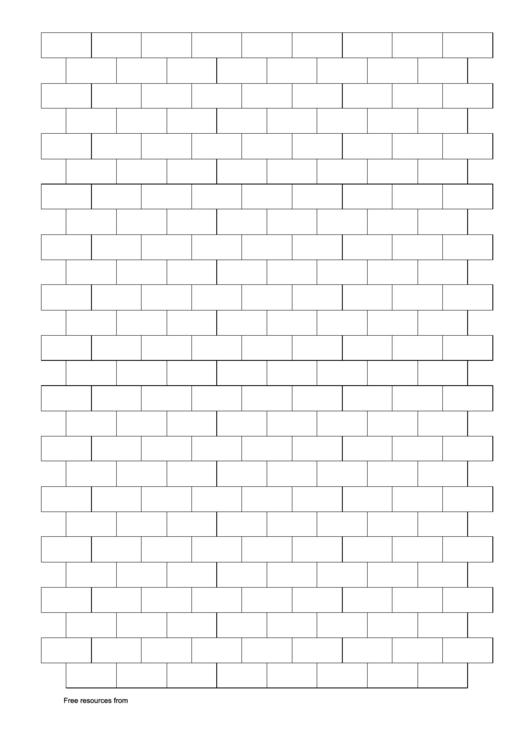 Brick Pattern (Graph Paper) Printable pdf