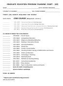 Graduate Education Program Planning Chart - (ge)