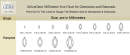 Africagems Millimeter Size Chart For Gemstones And Diamonds