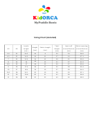 Kidorca Rubber Boots Size Chart (detailed)