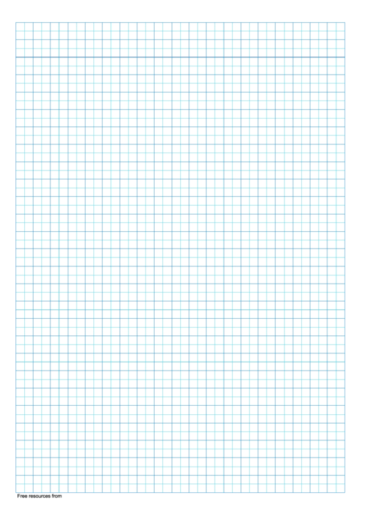 5 Mm Graph Paper (Blue Squares) Printable pdf