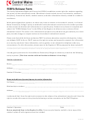 Ferpa Release Form - Central Maine Community College