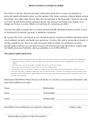 Hipaa Patient Consent Form - Rudy C. Paolucci, Dds