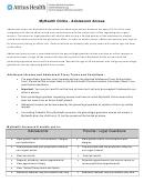 Adolescent Access Authorization Form