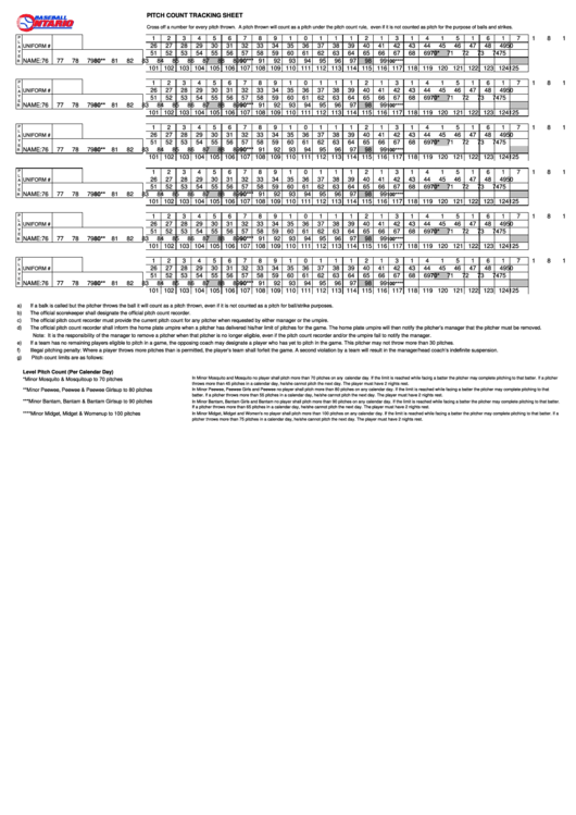 pitch count tracking sheet printable pdf download