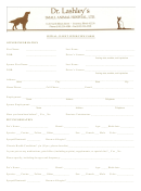 New Patient Interview Form - Lashley Animal Hospital