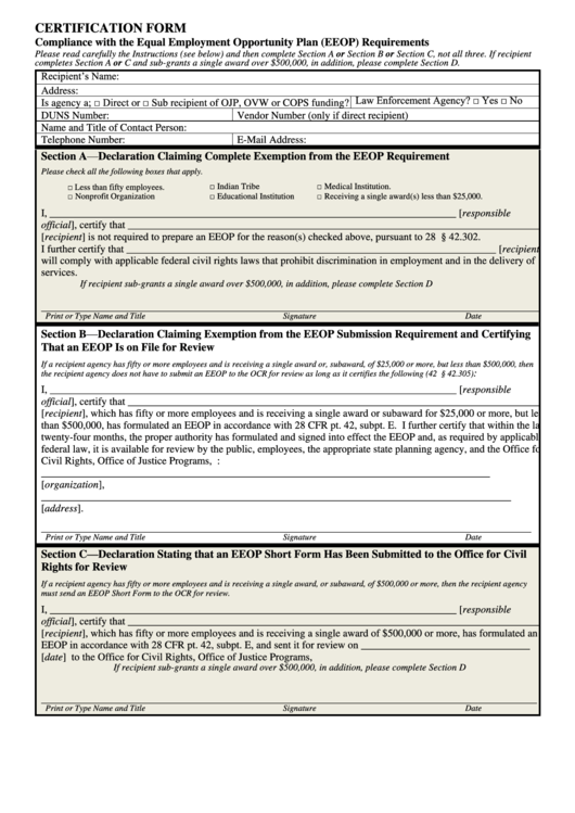 Top 19 Employment Certification Form Templates free to download in ...