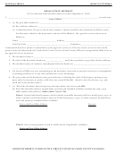 Small Estate Affidavit Form - Circuit Court Of Cook County, Illinois