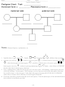 Family Genetics Project - Biology Worksheet