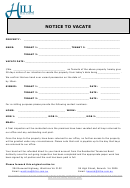 Notice To Vacate Form - Just Real Estate