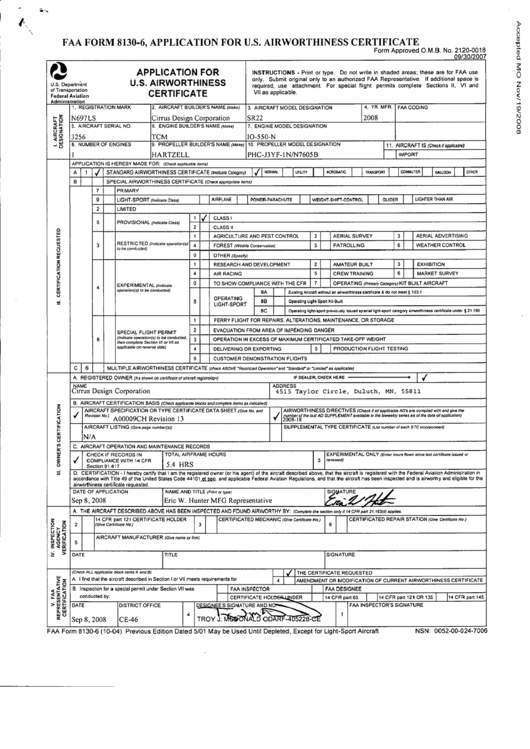 Top Faa Form 8130-6 Templates free to download in PDF, Word and ...