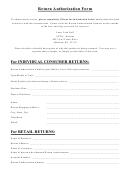 Return Authorization Form - Laser Link Golf