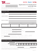 Application Form For Employment - Today Job