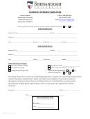 Change Of Address/name Form - Shenandoah University