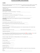 Business Income And Expenses Form (short)