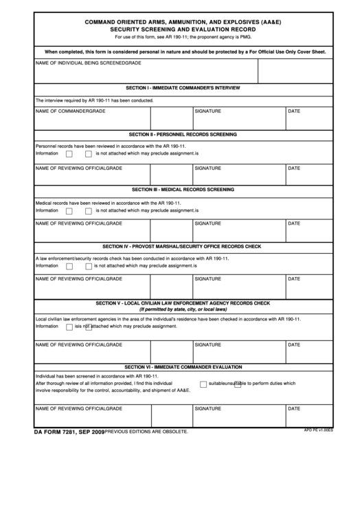 top da form 7281 templates free to download in pdf format
