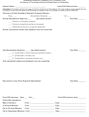 Crp Outcome Form - Utk Chemistry