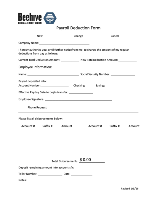 Top 19 Payroll Deduction Form Templates free to download in PDF format
