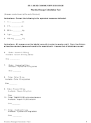 St. Louis Community College Practice Dosage Calculation Test