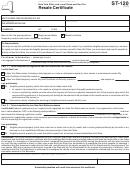 Form St-120 (1/11) Resale Certificate