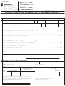 Form Mv-409 - Application For Certification Of Official Vehicle Safety Inspector