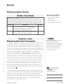Metamorphic Rock Identification