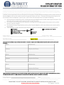Ferpa Form - Averett University