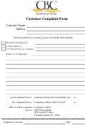 Customer Complaint Form - Cbc National Bank