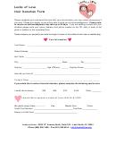 Hair Donation Form - Locks Of Love