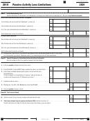 Form 3801 - Passive Activity Loss Limitations - 2016
